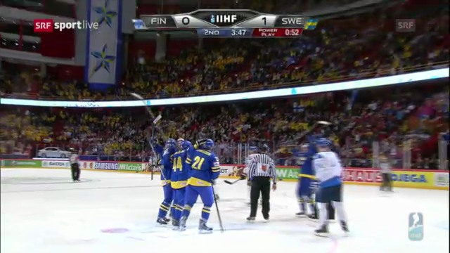 Die Tore von Finnland - Schweden («sportlive»)