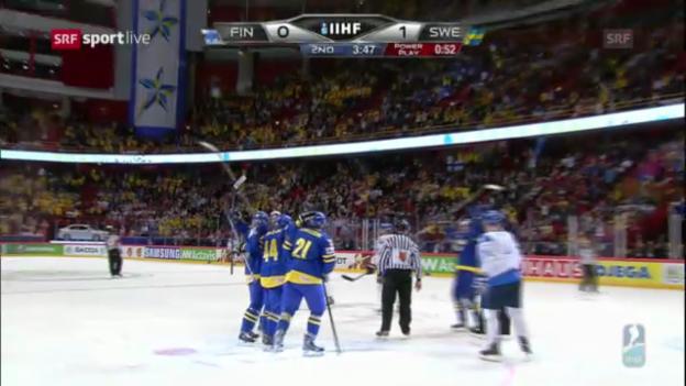 Video «Die Tore von Finnland - Schweden («sportlive»)» abspielen