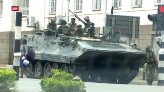 Video «Anspannung nach dem Militärputsch in Simbabwe» abspielen