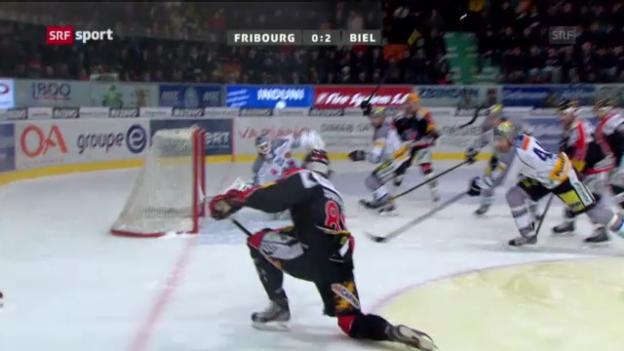 Video «Eishockey: Biel - Fribourg («sportaktuell»)» abspielen