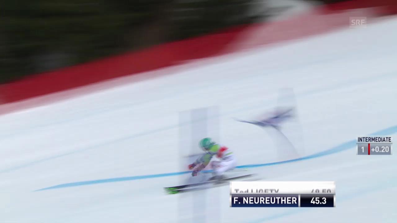 Ski: Weltcup der Männer, Riesenslalom Lenzerheide, Die Fahrt von Felix Neureuther («sportlive, 15.03.2014)