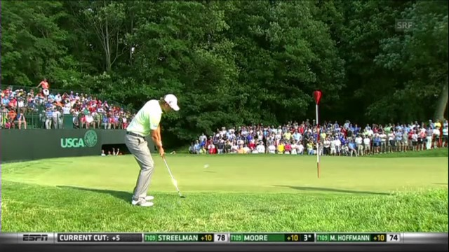 US Open: Sehenswerte Putts am 2. Tag
