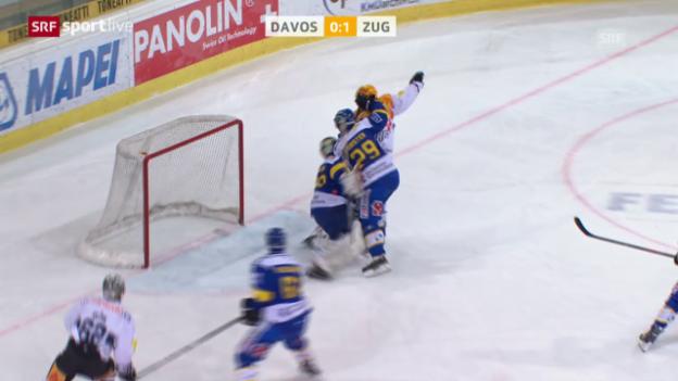 Video «Eishockey: NLA, Playoff-Viertelfinals, Davos - Zug» abspielen