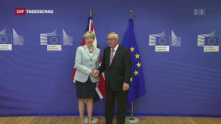 Video «Erste Einigung bei Brexit-Verhandlungen» abspielen