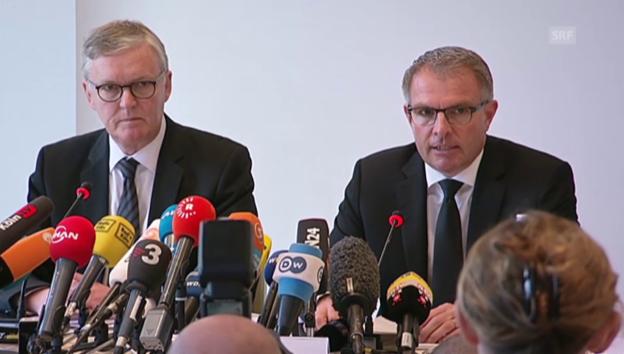 Video «Lufthansa-CEO Carsten Spohr ist fassungslos» abspielen