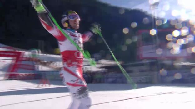 Video «Ski Alpin: Weltcup, Riesenslalom Alta Badia, 2. Lauf Marcel Hirscher» abspielen