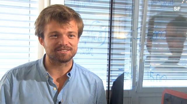 Emile de Rijk, Mitgründer des Start-ups Swiss-to-12, zur Förderung von Jungunternehmen im Kanton Waadt (frz.)