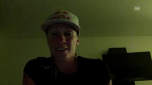 Video «Triathlon: Skype-Interview mit Ironman-Siegerin Daniela Ryf, Emotionen» abspielen