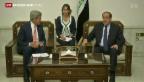 Video «Gespräche zwischen dem Irak und den USA» abspielen