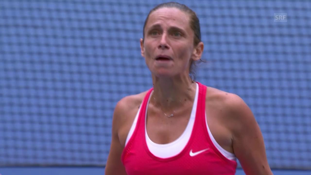 Tennis: US Open, Roberta Vinci legt sich nach einem Punkt mit dem Publikum an
