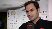 Link öffnet eine Lightbox. Video Federer: «Ein schwieriger Anfang und ein emotionales Ende» abspielen