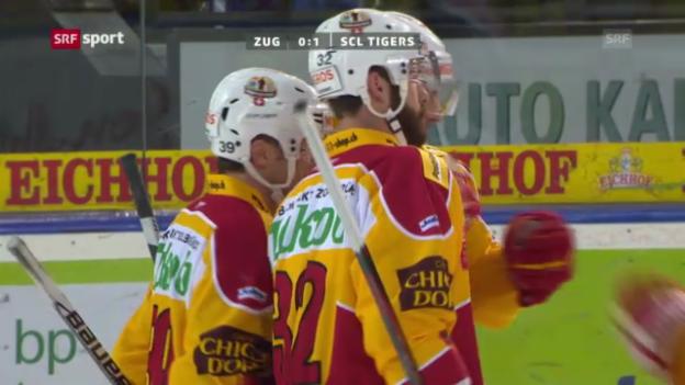 Video «EV Zug - SCL Tigers «sportaktuell»» abspielen