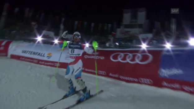Video «Super-Kombi: Slalom Silvan Zurbriggen» abspielen