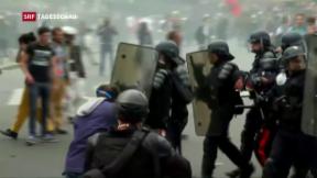 Video «Kampf gegen die Arbeitsmarktreform» abspielen