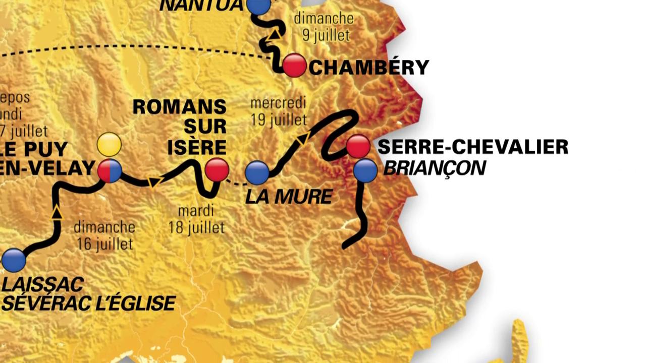 Der Etappenplan der Tour de France 2017