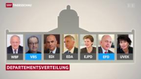 Video «Verteilung der Departemente in Bern» abspielen