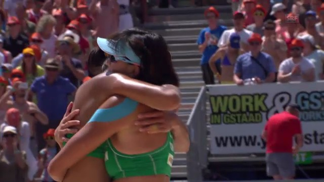 Beachvolleyball: Satzbälle Frauenfinal
