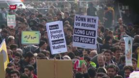 Video «Iraner protestieren am Revolutionstag gegen Trump » abspielen