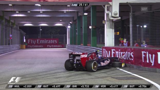 Video «GP Singapur: Crash von Ricciardo («sportlive»)» abspielen
