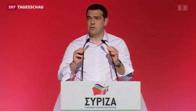 Video «Tsipras kämpft gegen Parteispaltung» abspielen
