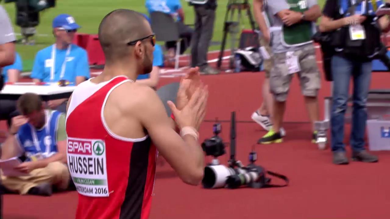 La cursa da mezfinal da Hussein