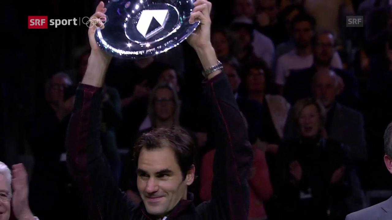 Federer feiert in Rotterdam seinen 97. Turniersieg