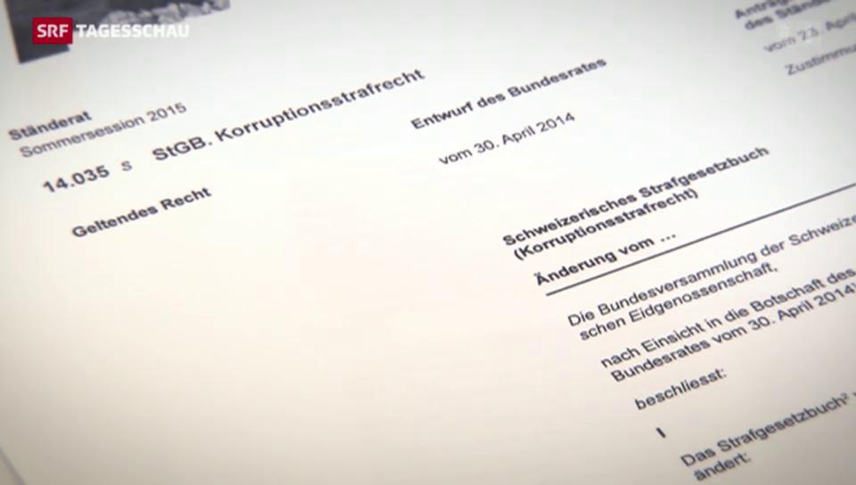 Schweiz: Lex Fifa ist aufgegleist
