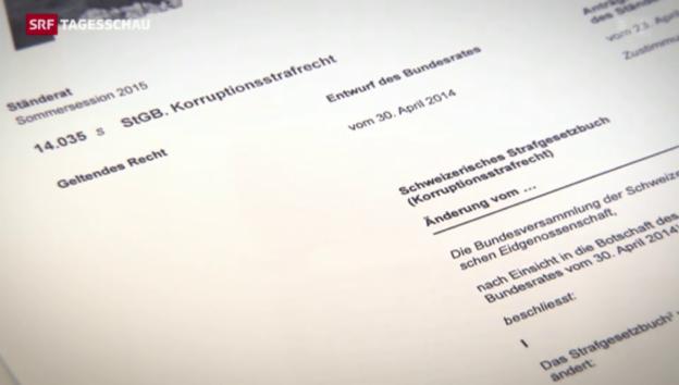 Video «Schweiz: Lex Fifa ist aufgegleist» abspielen