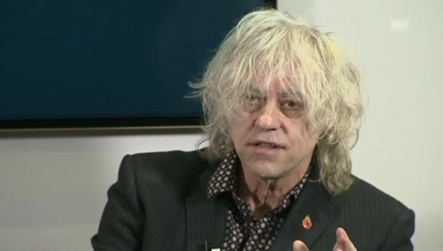 Video «Geldof: «Wenn Sie den Song hassen, kaufen Sie ihn trotzdem»» abspielen