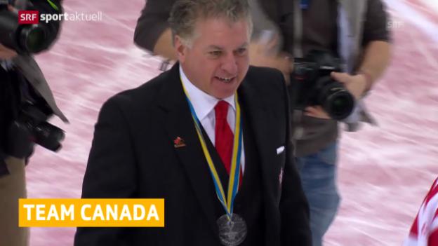 Video «Eishockey: Shedden/Pelletier coachen Team Canada» abspielen
