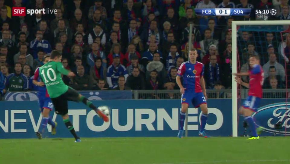 Das Tor von Draxler in Basel («sportlive»)