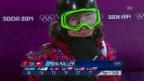 Video «Snowboard Halfpipe: Zusammenfassung Halbfinal Frauen (12.02.2014)» abspielen