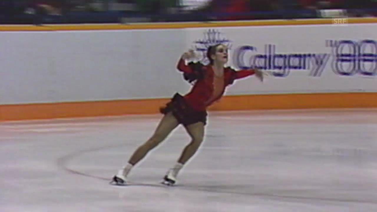 Ausschnitt aus Katharina Witts Kür 1988 (SRF-Archiv)