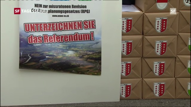 Referendum gegen neues Raumplanungsgesetz (Tagesschau, 3.10.2012)