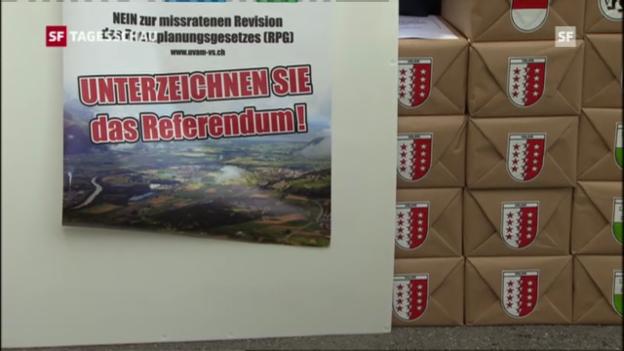 Video «Referendum gegen neues Raumplanungsgesetz (Tagesschau, 3.10.2012)» abspielen