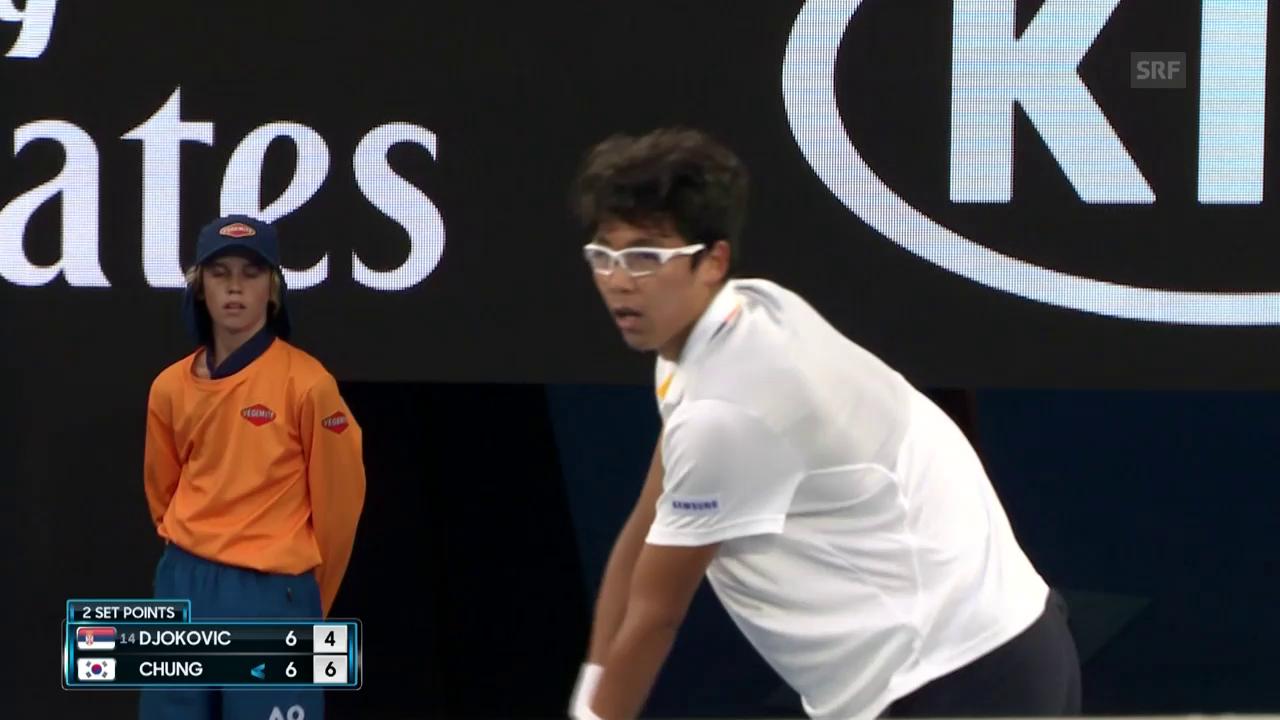 Die wichtigsten Punkte bei Djokovic - Chung