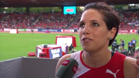 Video «Leichtathletik: Hürdenläuferin Valentina Arrieta im Interview» abspielen