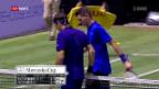 Video «Comeback-Sieg von Roger Federer» abspielen