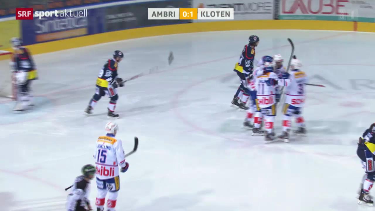 Eishockey: NLA, Ambri - Kloten