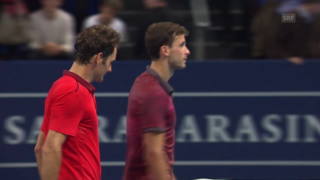 Video «Tennis: Swiss Indoors, Federer-Dimitrov» abspielen