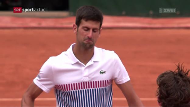Video «Nadal weiter – Djokovic out» abspielen