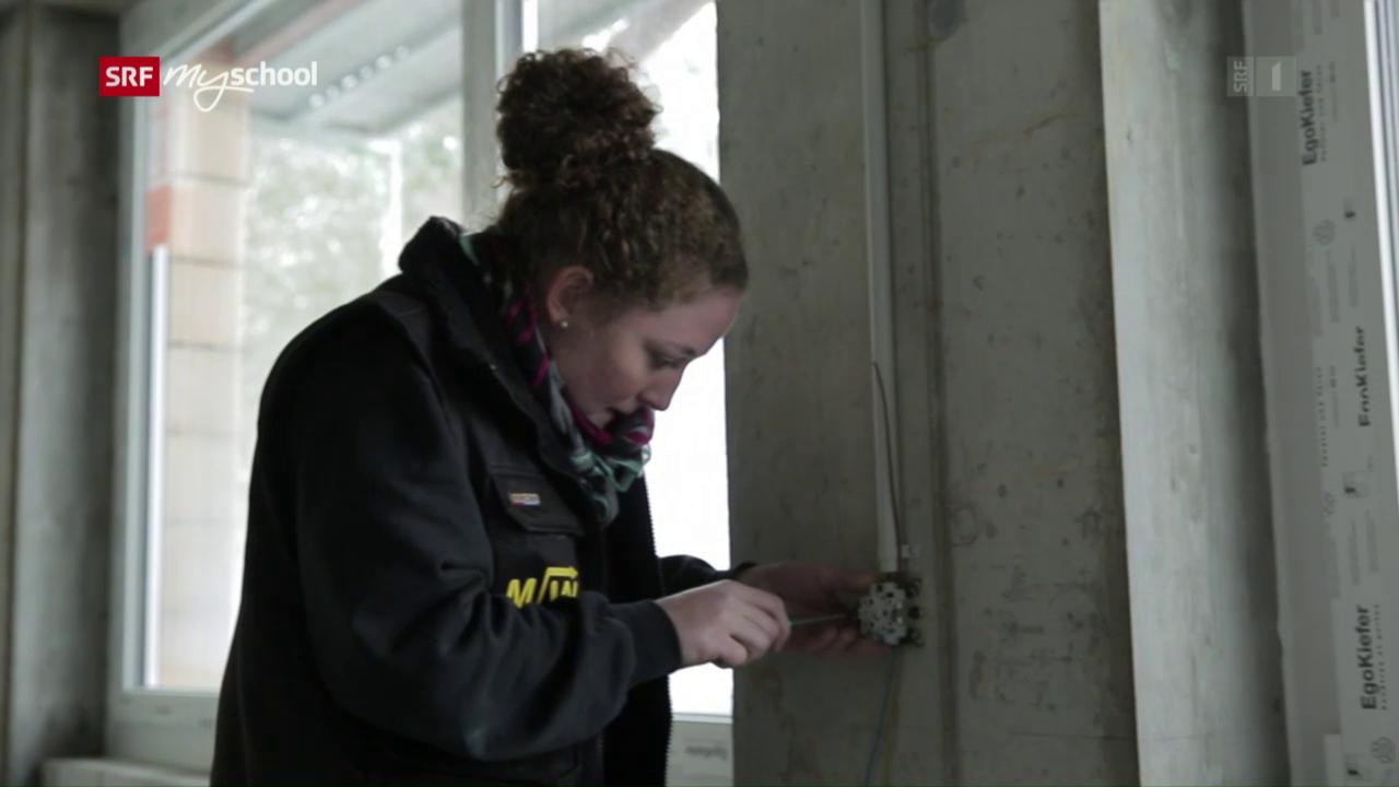 Berufsbilder aus der Schweiz: Elektroinstallateurin EFZ