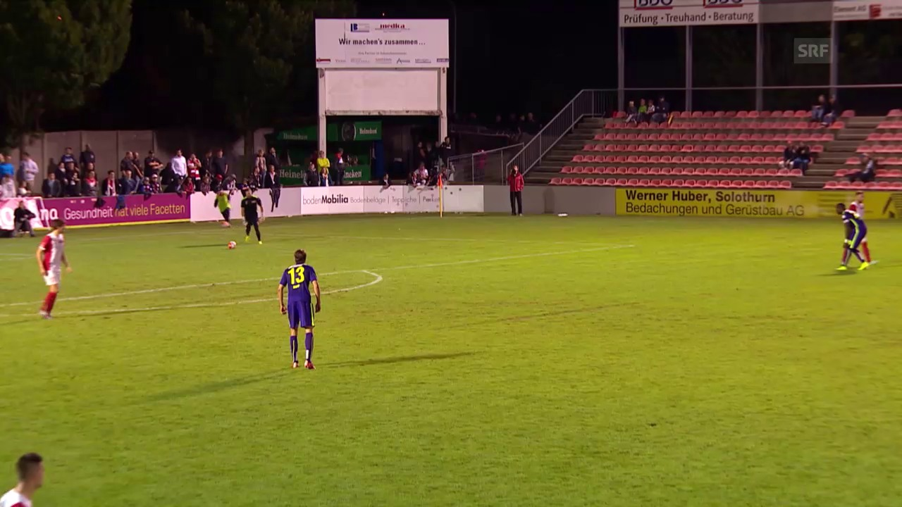 Fussball: Schweizer Cup, 1. Runde: Solothurn -Thun, Tor Munsy 0:4