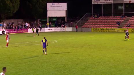 Video «Fussball: Schweizer Cup, 1. Runde: Solothurn -Thun, Tor Munsy 0:4» abspielen