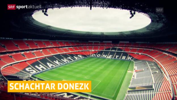 Video «Fussball: Schachtar Donezk muss ausweichen («sportaktuell»)» abspielen