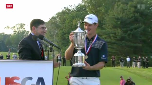Video «Justin Rose Sieger am Golf US-Open» abspielen