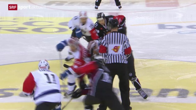 Video «Eishockey: CHL, Genf-Servette - Villach» abspielen