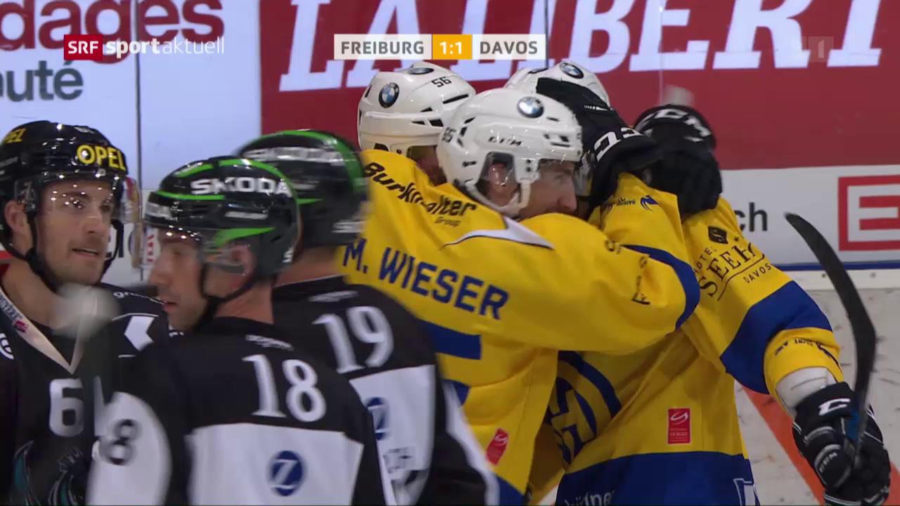 Eishockey: NLA, Freiburg - Davos