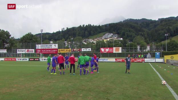 Video «Fussball: Kriens empfängt YB zum grossen Cup-Duell» abspielen