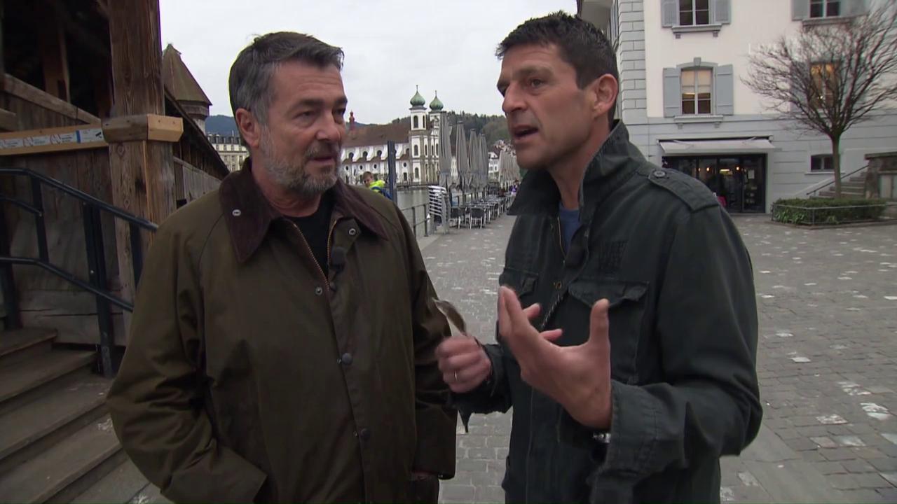 Roman und Reto in Luzern